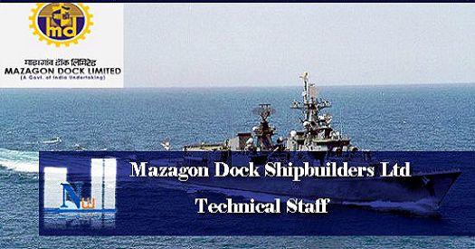 Recruitment of Tradesmen in Mazagon Dock Shipbuilders Limited 2019