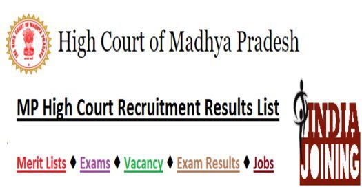 MP High Court Recruitment Latest List