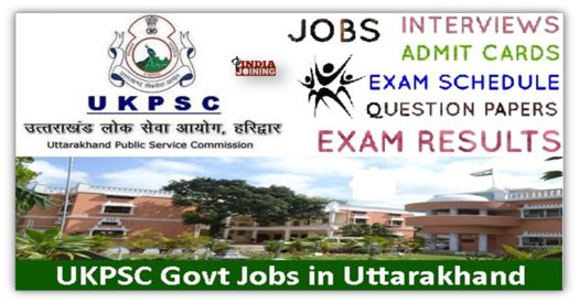 Uttarakhand Public Service Commission Question Papers