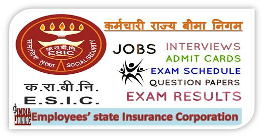 IMO ESIC Jobs 2018 — Online Form, Syllabus, Apply IndiaJoining Com