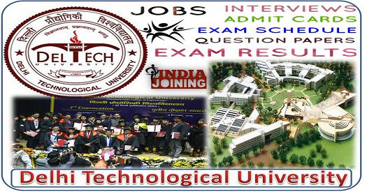 Delhi Technological University Recruitment Results Latest List