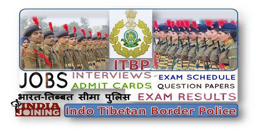 Indo Tibetan Border Police Results Latest List 2020