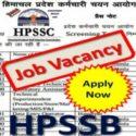 HPSSC Recruitment 2020 Various Vacancy 943 Posts