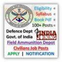 Ammunition Depot Civilian Recruitment 2020