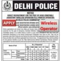 Delhi Police Head Constable (AWO/TPO) Assistant Wireless Operator/Tele-printer Operator (Group C) Notification 2020