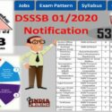 DSSSB Recruitment 01/2020 Notification Apply 536 Posts