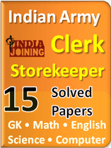 Indian Army Clerk Previous Question Paper