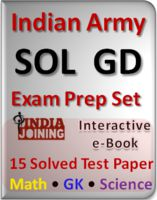 Indian Army sample papers for Soldier General Duty written exam