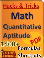 Math and quantitative aptitude quick solution tricks