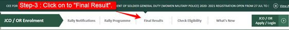 Step-3 how to download Indian army result